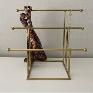 Gold Jewelry Stand